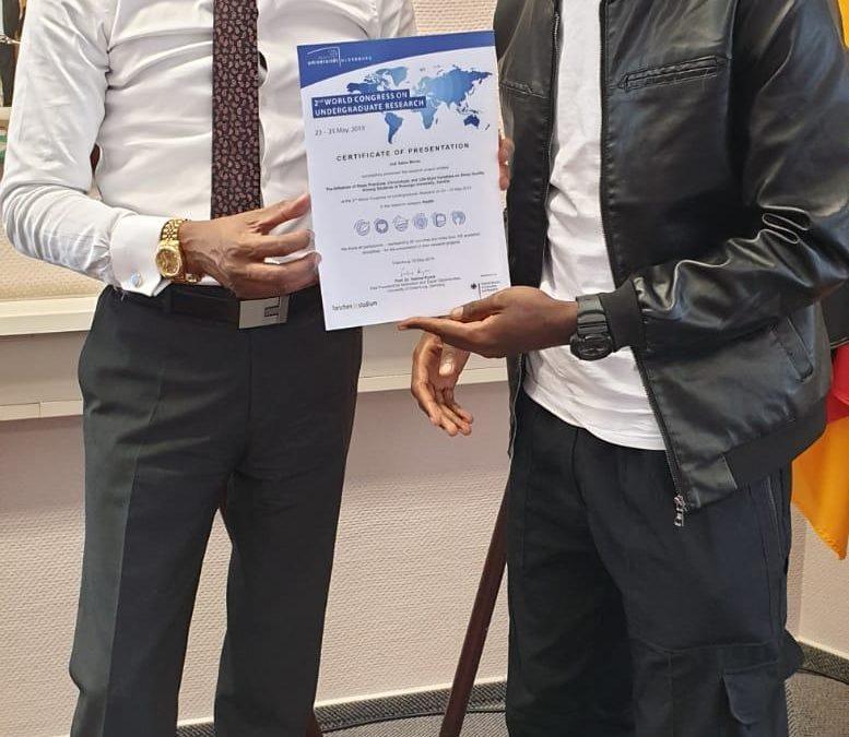 Zambian academic shines in Germany