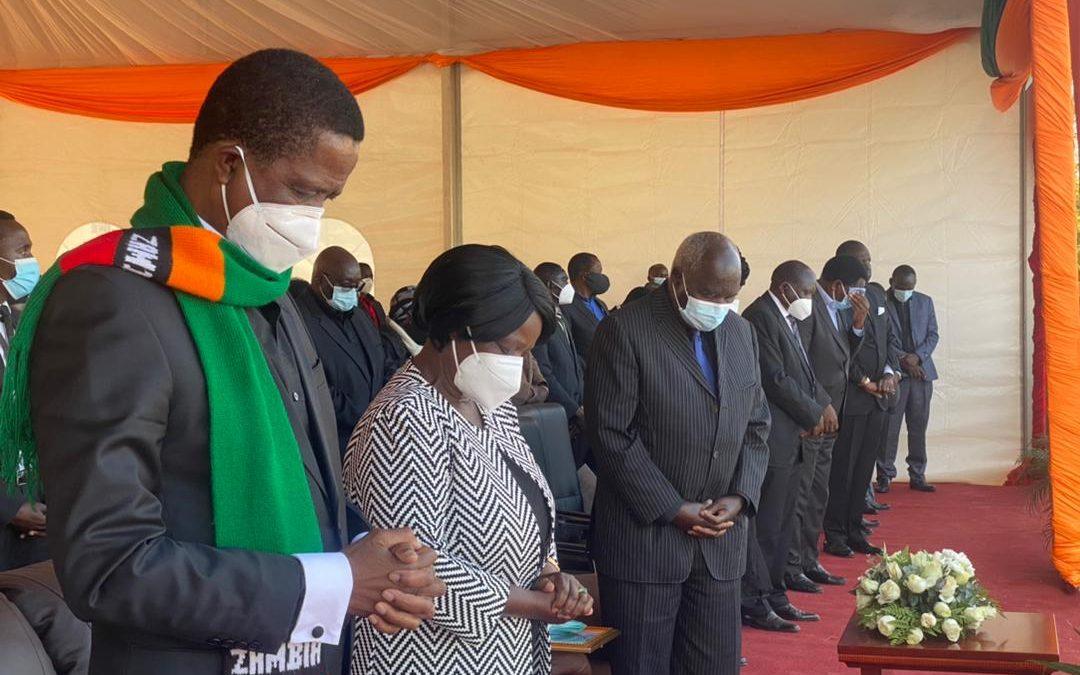 President Lungu addresses mourners